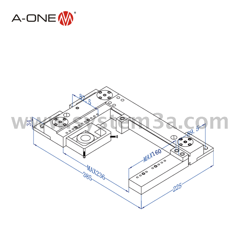 Horizontal adjustment type base plate 3A-210021